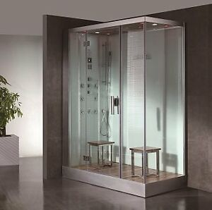 New DZ961F8-W - Steam Shower 59.1″x35.4″x89″