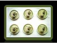 ROYAL COPENHAGEN 'QUAKING GRASS' DEMITASSE CUPS AND SAUCERS - FOR SALE.