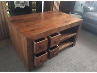 Solid mango tv cabinet / unit