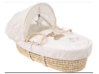 Moses Basket, Folding Stand & Insect Net