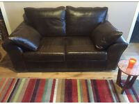 Bolivia rich brown genuine leather 2 seater sofa