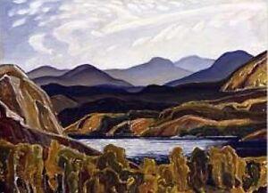 "F. Carmichael Ltd Edition panel ""La Cloche Mountain and Lake"" London Ontario image 1"