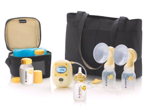 Medela double electric breast pump. Hands free.