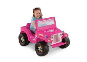 Brand new. Jeep 6-Volt- Barbie Jeep ride on by Fisher price.