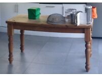 Solid wooden Pine table for 6