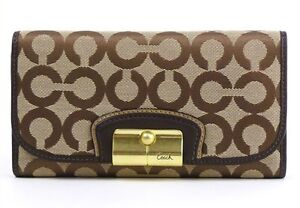 NWT COACH Kristin Op Art Checkbook Wallet F43733