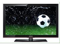 "Samsung big 50""inch Tv! & glass table!USB-HDMI!FOR-SALE!"