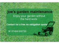 Joe's garden maintenance