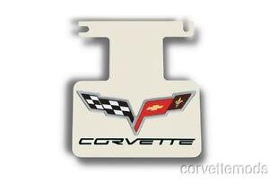 Corvette C6  Logo/Lettering Polished Exhaust Enhancer Plate