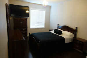 Full Bedroom Set - Night Stands, Wardrobe, Mirror