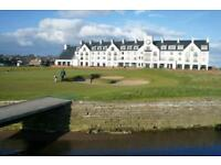 2 bedroom house for Golf open