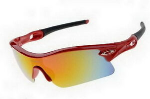 Red Positive Yellow Iridium Oakley Polished Sunglasses