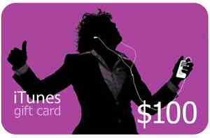 iTunes and App store Apple gift card - $ 100 value for $ 85
