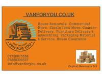 Removals service-House,Office,Flat relocation piano,rubbish Removals Cleaning Packaging Nationwide