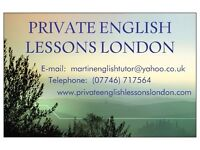 PRIVATE ENGLISH LESSONS BY SKYPE OR IN PERSON, WITH 'PRIVATE ENGLISH LESSONS LONDON' :-)