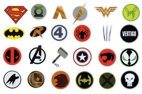 Superhero stickers ebay