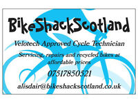 Recycled bikes, servicing and repairs
