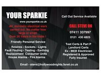 ELECTRICIAN, Call Steve on 07411 337997 South Birmingham/Surrounding Area's