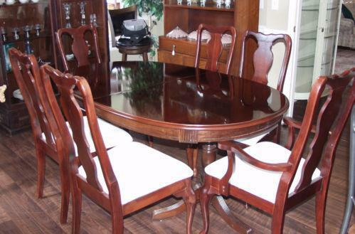 Queen anne dining room chairs ebay for Queen anne dining room