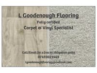 Carpet and Vinyl Specialist fitting services