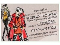 Dressmaker/Seamstress/Soft Furnishing/leather worker
