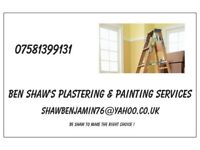Ben's painting and plastering services (every job treated as if it were my own home)