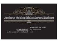 ANDREW NOBLE BLAKE STREET BARBER
