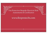 Fire Alarms, certificates, Risk assessments electrical work
