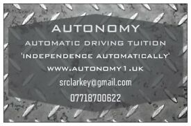 AUTOMATIC DRIVING LESSONS IN CARDIFF, 'WHEN THE GEARS AND CLUTCH ARE JUST TOO MUCH' CALL AUTONOMY.