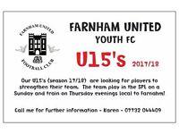 U15's 2017/18 - FARNHAM UNITED YOUTH