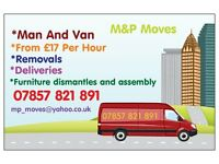 Man and Van,Removel Services Starts from £17/h