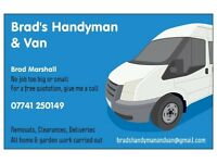 MAN AND VAN FOR REMOVALS, DELIVERIES AND HANDY MAN SERVICE