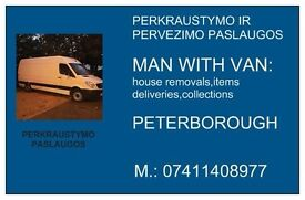 MAM WITH VAN : HOUSE REMOVALS,ITEMS DELIVERIES,COLLECTIONS