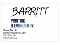 Customised Printing & Embroidery Services - Clothing, materials, mugs and much more