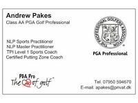 Golf Lessons for Beginners and Established Golfers with a PGA Professional at Parley Golf Centre