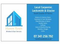Carpenter, Locksmith & Glazier, Windows & Doors, Repairs, Replacements, Locks, Glass, Double Glazing