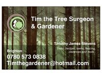 Tim the gardener - for all your garden needs - Fencing, tree surgeon, hedges etc
