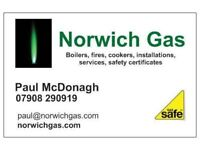 GAS ENGINEER - GAS SAFE REGISTERED - GAS COOKER INSTALLATION - NORWICH