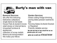 burty's man with van