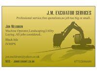 JM EXCAVATOR SERVICES.-All digger work undertaken....