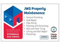 Painting and Decorating, Plumbing, Property Maintenance, Tilling, Plastering, Painter, Plumber