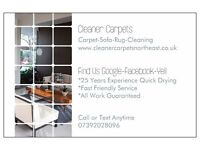 Carpet cleaning, Sofas, Rugs, All NE SR DH PostCodes Covered