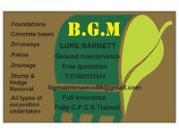 B.G.M Ground & Garden maintenance (Digger Hire) Norfolk