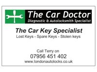 Auto locksmith - Lost car keys replaced Spare car keys supplied Sidcup Welling Bexley Dartford Kent