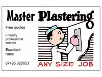 NEW YEAR SALE!! SPECIAL LOW PLASTERING RATES, FREE QUOTES, QUALITY WORK