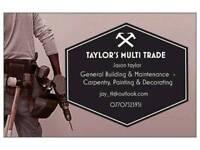 Carpenter, Painter & Decorator / Multi Trade