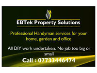 EBT Property Solutions.... For any jobs big or small around the home, office or garden