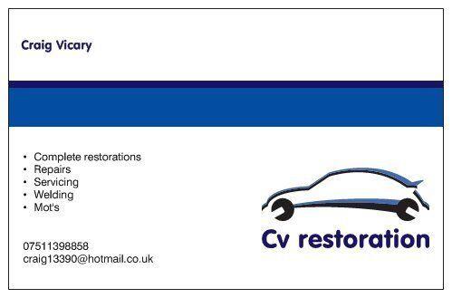 vehicle restoration,