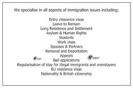 FREE IMMIGRATION ADVICE* We specialise in all areas of Immigration law.