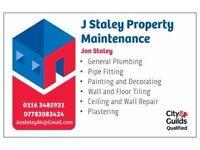 Property Maintenance, Plumbing, Painting and Decorating, Tilling, Plastering, Painter, Plumber